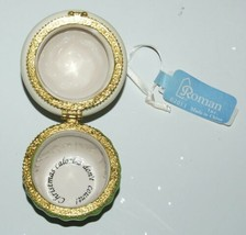 Roman Inc 35900 Cupcake Trinket Box Ornament Seasons Greetings Gold image 2
