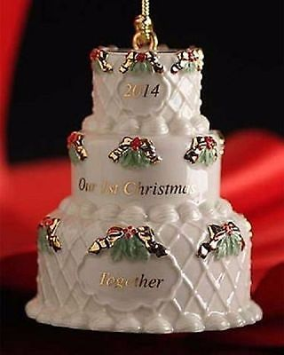 Lenox 2014 Wedding Cake Ornament Our 1st First Christmas
