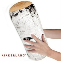 Birch Log Pillow Roll Cushie Kikkerland Micro Bead Head Cushion - $19.29