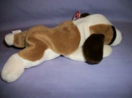 TY Beanie Babies Bernie The Tan & White Dog With Hang Tag 10/3/96 image 4