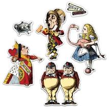 Alice in Wonderland Magnet Set 30 magnets John Tenniel drawings Color Magnetic image 3