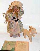 Nursery Rhyme Doll Little Bo Peep First Wendy Lawton COA Green Eyes Asht... - $40.00