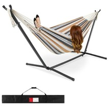 Best Choice Products 2-Person Brazilian-Style Cotton Double Hammock Bed W/ Carry - $192.64