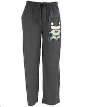 DC COMICS Mens Charcoal Gray Funko Batman Mens Lounge Pajama Pants Button Fly - $24.95