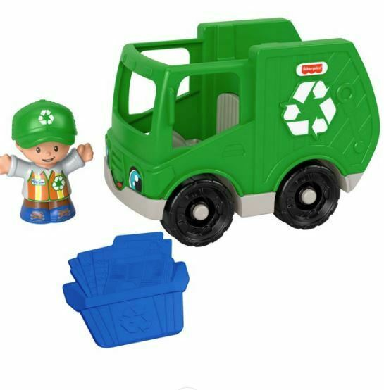 Fisher-Price Little People Recycle Truck Push Along Vehicle For Ages 1Through 5 - $11.14