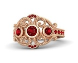 Round ruby 14k rose gold ring with ruby thumb155 crop