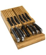 In-Drawer Bamboo Knife Block Holds 12 Knives (Not Included) Without Poin... - $96.87