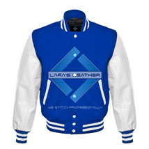 Royal Varsity Baseball Genuine Leather Sleeve Letterman College  Men Woo... - $74.00