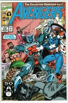 The Avengers #335 Copper Age Marvel Comic Captain America! Vision! Sersi!  - $3.03