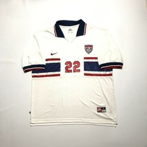 Men Nike USA United States of America Home 1995 #22 Lalas Soccer Shirt Jersey - $83.29