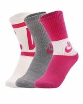 Nike Youth Girls Performance Cushioned Crew Socks Size 5Y-7Y SX6839-962 - $19.99