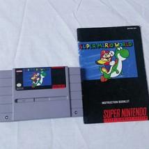 Super Mario World SNES Super Nintendo 1991 Video Game Cartridge Manual - $34.99