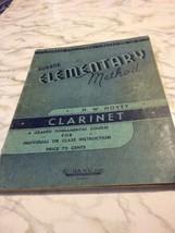 Rubank Elementary Method Clarinet Fundamental Course Hovey Sheet Music  - $5.13