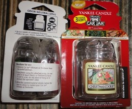 1 new yankee candle ultimate car jar air freshener holiday 3 pack - $9.00