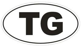 TG Togo Oval Bumper Sticker or Helmet Sticker D2037 Country Code - $1.39+