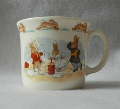 Royal Doulton Bunnykins Hug-a-Mug 1 Handle Albion Shape Cup - Water Figh... - $19.99