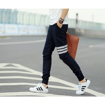 Joggers pants 2018 new men's fashion Slim casual pants feet pants cotton pants b - $36.72