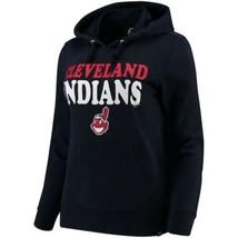 Women's Cleveland Indians Power Alley Hoodie MLB Baseball Hooded Sweatshirt NEW