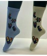 2 PAIRS Foozys Women's Socks AUTISM Awareness, Love, Heart, NOP - $7.92