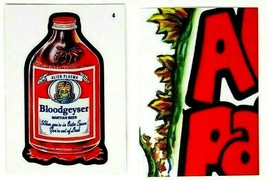 """2019 Wacky Packages Mars Attacks """"BLOODGEYSER BEER"""" #4 ATTACKY Card - $4.99"""