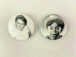 Spanky Alfalfa Our Gang Pinback Button Lot of 2 TV Movie - $9.89