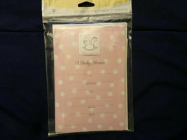 1 Pack of 8 Fill In or Imprintable Baby Shower Invitations *NEW* y1 - $7.99