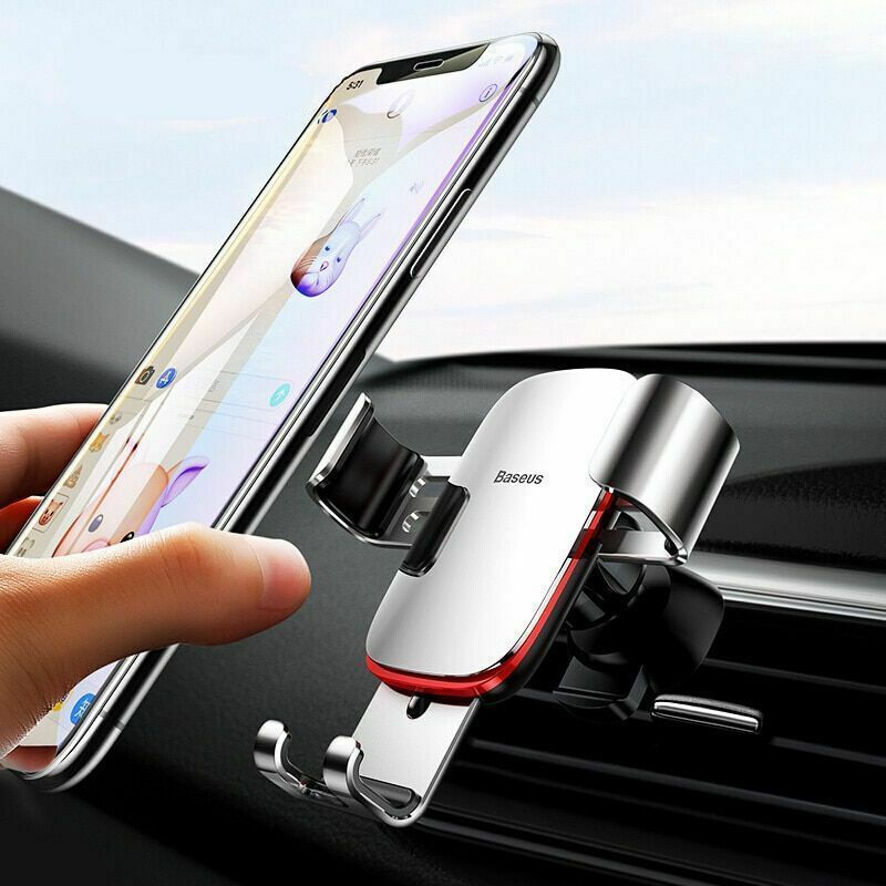 """Car Mobile Holder 4-6.0"""" Air Vent Mount Metal Gravity Universal Smartphone Stand"""