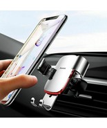 "Car Mobile Holder 4-6.0"" Air Vent Mount Metal Gravity Universal Smartpho... - $17.59"