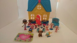 Disney Doc Mc Stuffins Clinic/ House with Extra Figures. Total of 14.  - $19.79