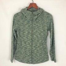 Columbia M Medium Long Sleeve Full Zip Hoodie Green Womens Athletic Jacket - $18.32