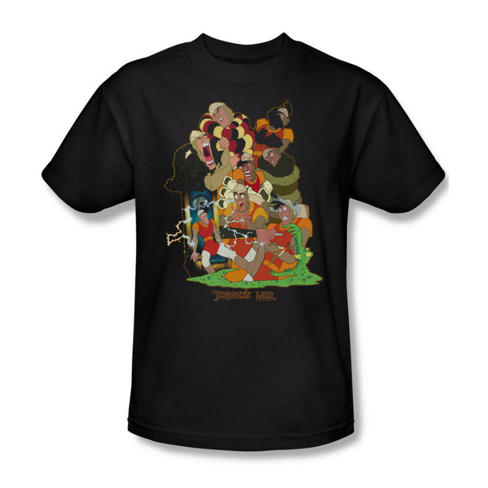Dragons Lair t-shirt Dirk retro 80's classic arcade game graphic tee DRL107