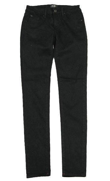 NEW D-ID NEW YORK WOMEN'S PREMIUM SKINNY FIT LOW RISE JEANS BLACK 1000-0019