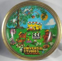 Vintage Universal Studios 1980 Bowl Tin Metal graphics excellent - $18.80