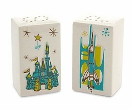Disney Salt & Pepper Shaker Set Retro Magic Kingdom Map Icons - €36,30 EUR