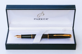 Parker sonnet Premier laque Rough GT Rose fountain pen in parker gift box - $210.00