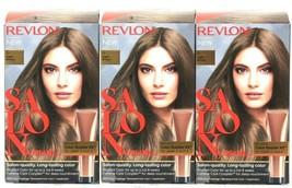 (3) Revlon Salon Quality Color 6 Light Brown Long Lasting Permanent Hair... - $30.12
