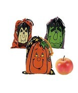 Large Halloween Drawstring Goody Bags 3 Dozen - £8.51 GBP