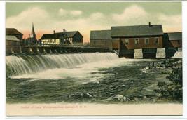 Outlet Lake Winnipesaukee Lakesport New Hampshire 1907c postcard - $6.93