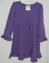 Blanks Boutique Long Sleeved Color Purple Ruffle Dress Size 3T image 1