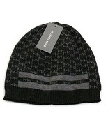 Michael Kors Signature Gray Lightweight Knit Beanie Skull Cap Men's One ... - $42.56