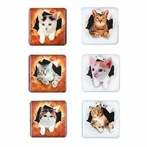 Cute Cat Magnets 6pcs 3D Pattern Cartoon Animals Decoration Magnets Funn... - $14.54