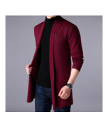 2019 New Youth Men's Sweater Solid Color Bottom Shirt Long Sleeve Cardig... - $26.37