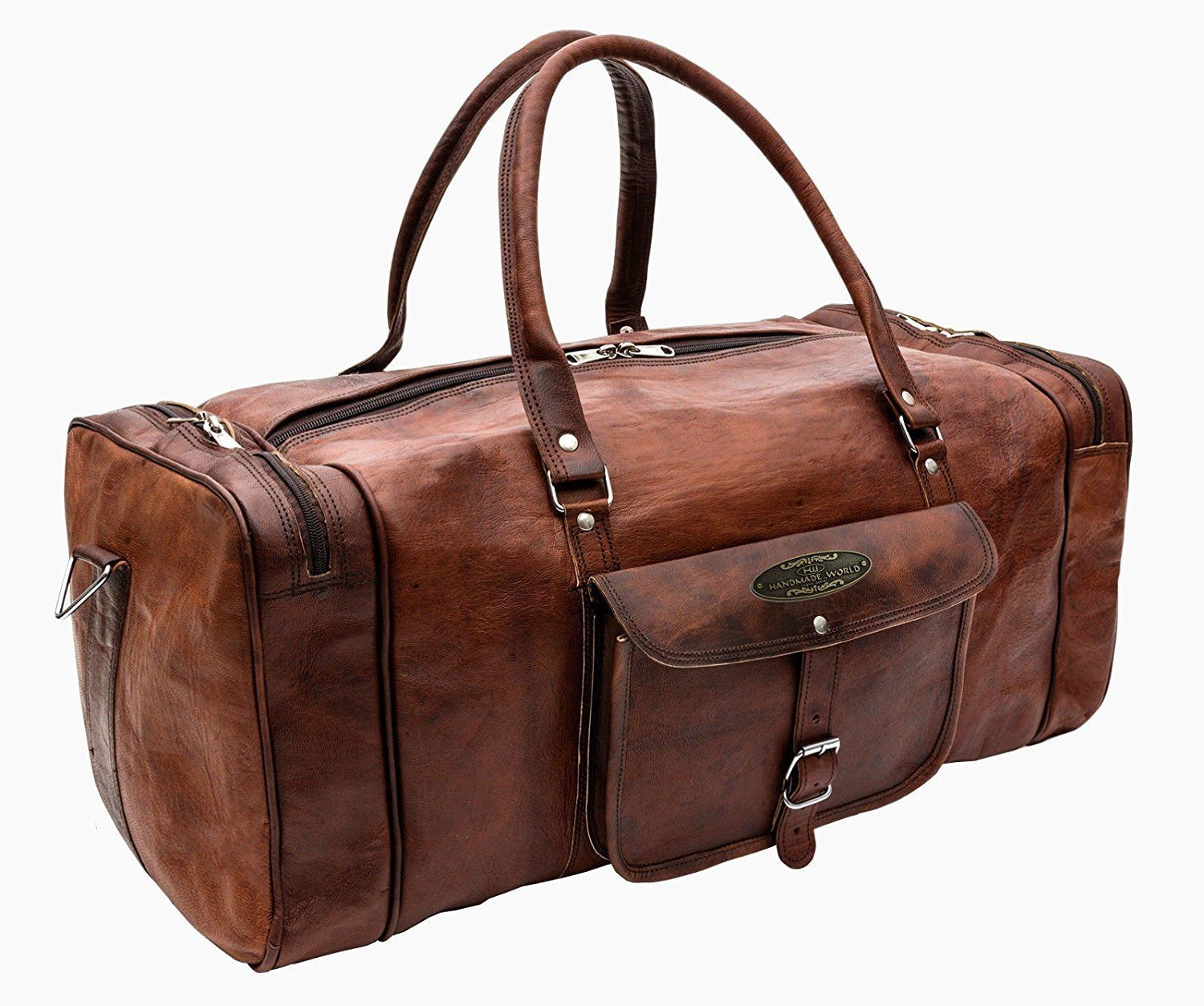 be43b1bba491 57. 57. Previous. Men s Luxury Leather Travel Weekend Luggage Duffel Gym  Messenger Bags Suitcases