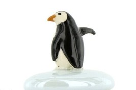 Stepping Stones Fairy Garden Terrarium Miniature Penguin Baby on Blue Opaline