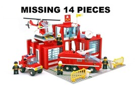 LEGO RSQ911 Set 6389 Fire Control Center Station Town City BB - $55.00