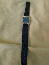 Vintage Lord Elgin 21J blue dial, drivers watch, 1950's, working condition - $85.14