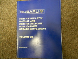 2001 Subaru Service Bulletin service Repair Shop Manual FACTORY FEO BOOK 01 - $29.65