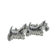 English Made Scottish Terrier Pewter Cufflinks, Cufflinks in gift box, cuff link