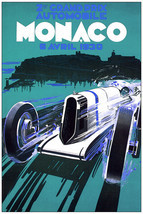 3012.Grand Prix Automobile Vintage Ad Poster.Monaco 1930 Decorative wall... - $10.45+
