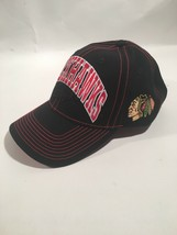 Chicago Blackhawks Reebok Face-Off Adjustable Hat Black Red #2 - $16.10